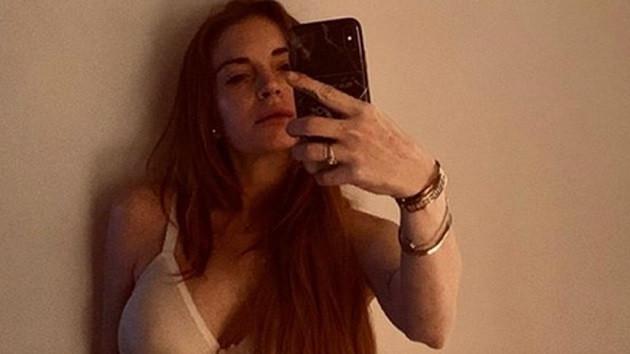 Lindsay Lohan bu defa çamaşırlı
