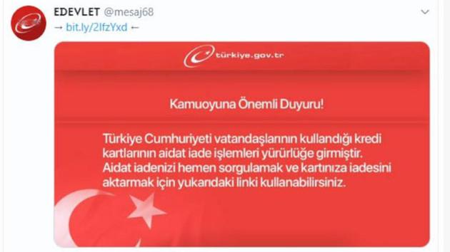 Twitter'da sahte e-devlet ilanı
