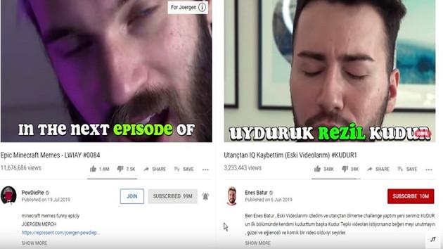 Yabancı YouTuber, Enes Batur'un tüm çalıntı videolarını ifşa etti