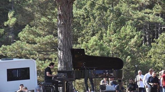 Fazıl Say Kaz Dağlarında konser verdi
