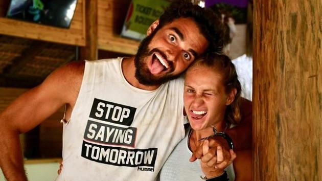 Survivor Yunanistan şampiyonu Katerina Dalaka yarışmada tanıştığı Atakan Işıktutan ile aşk yaşıyor