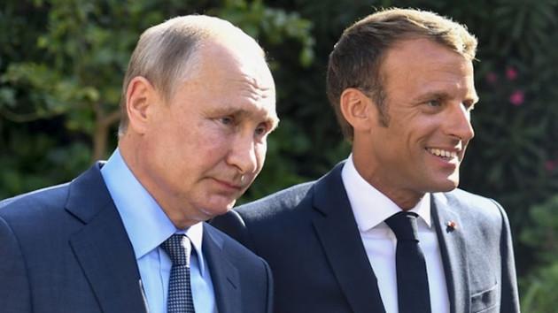 Macron Putin görüşmesinde İdlib gündemdeydi