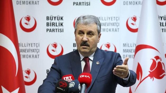 BBP Genel Başkanı Destici HDP'nin kapatılması için çağrı yaptı