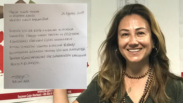 Bakan Ersoy'a büyük tepki: AKP'lileri çıldırtan Nalan Apa istifa ettirildi