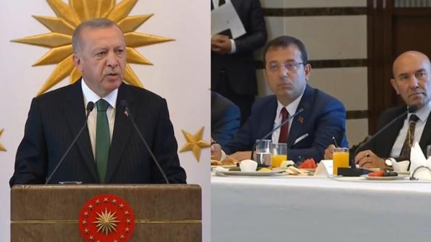 Erdoğan: Tüm hayırlı çalışmalarda belediye başkanlarının yanında olacağım