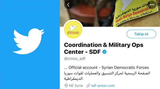 Twitter YPG'nin hesabını onayladı, mavi tik verdi!