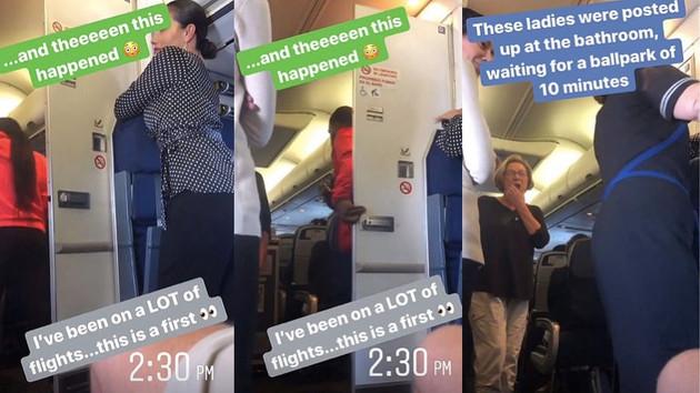 Uçakta tuvalet fantezisi yapan çift yakalandı