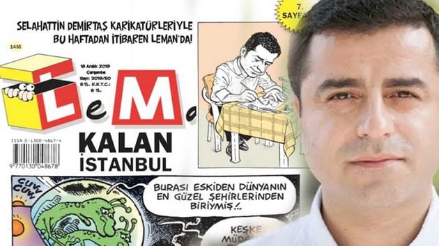 Demirtaş bu kez Erdoğan karikatürü çizdi