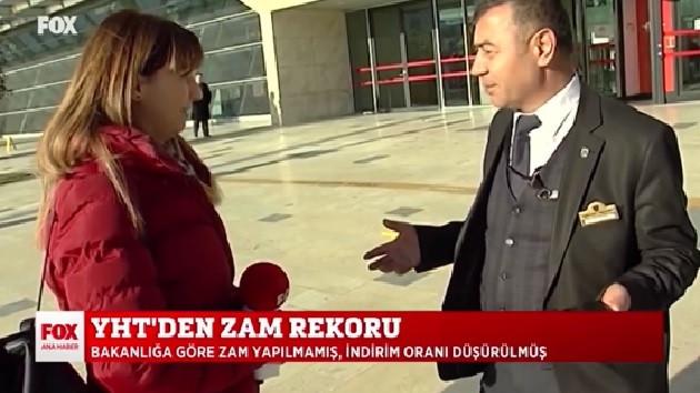 FOX TV muhabiri: Bana araba mı çarpsın? TCDD görevlisi: Beni ilgilendirmez