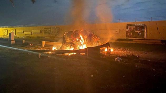 Kasım Süleymani'nin bombalanan konvoyundan yeni video!