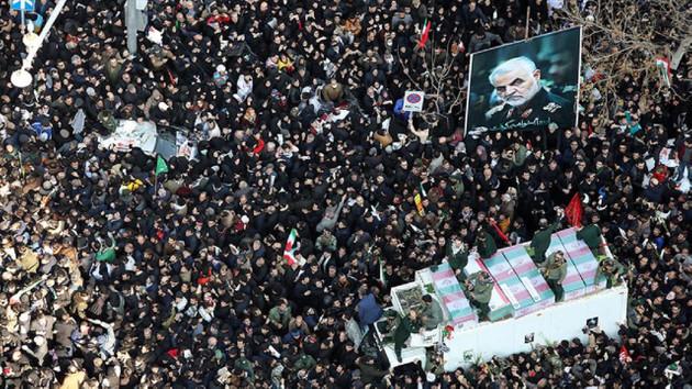 Süleymani'nin cenaze töreninde 35 kişi öldü