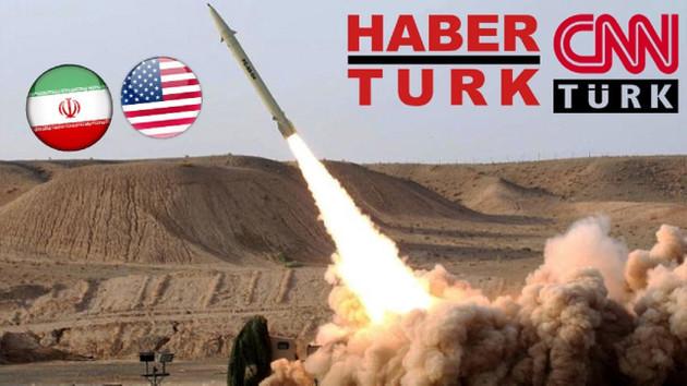 İran ABD'yi vurdu Habertürk ve CNN Türk uyudu!