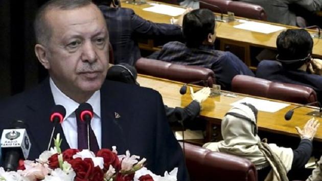 Pakistanlı vekiller Erdoğan konuşurken neden masalara vurdular?