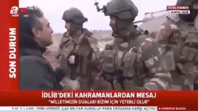 Komutandan A Haber muhabirine fırça: Yerine geç..
