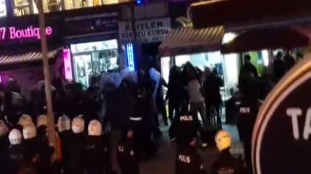 Kadıköy'de intihar protestosuna sert müdahale
