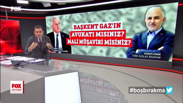 Fatih Portakal'dan Kızılay Başkanı'na tepki: Başkentgaz'ın avukatı mısın?