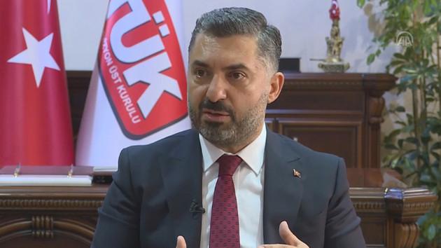 RTÜK Başkanı: Korku ve paniğe neden olan yayınlara ceza verdik