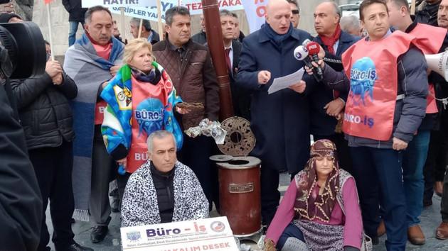 Ankara'da Başkent Gaz'a yüksek fatura ve Kızılay protestosu
