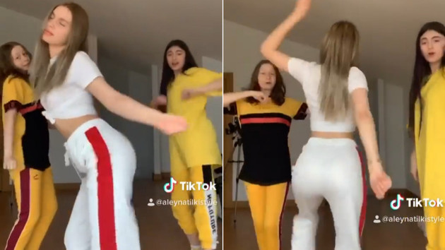 Aleyna Tilki TikTok'ta kalça dansıyla şov yaptı