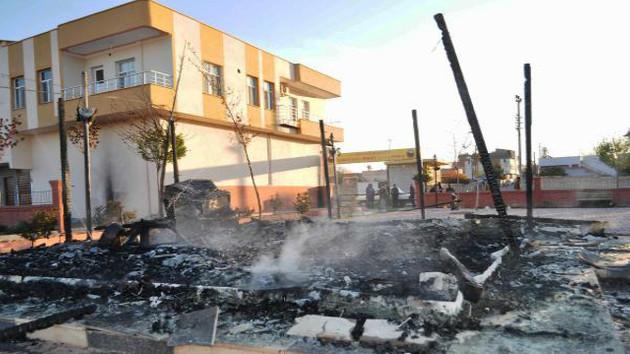 Ceylanpınar'da sokaklar savaş alanına döndü
