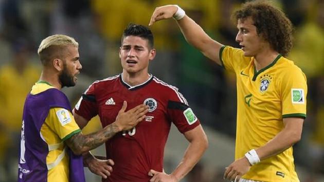 Brezilya Kolombiya'yı eledi, James Rodriguez ağladı