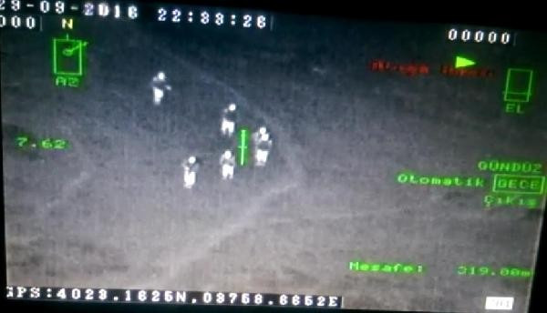 Ordu'da 6 teröristin öldürülme anı, asker kamerasında