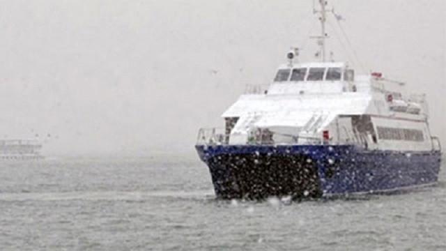 İstanbul'da deniz otobüsü seferleri iptal