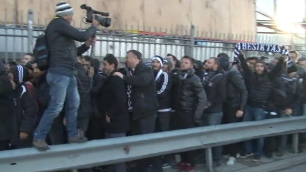 Beşiktaşlı taraftarlar Kadıköy'e böyle geldi