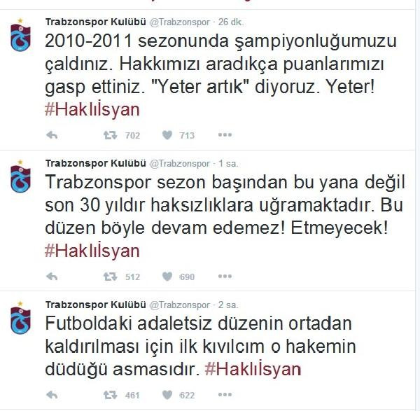 Trabzonspor böyle isyan etti: 30 yıldır haksızlığa uğruyoruz