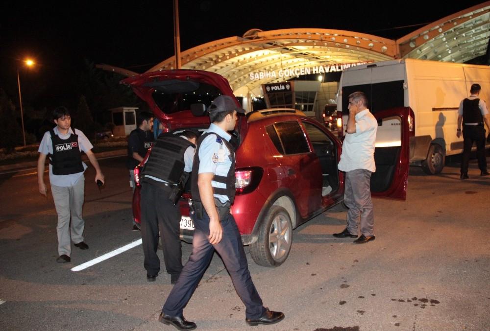 Sabiha Gökçen'de polis alarma geçti