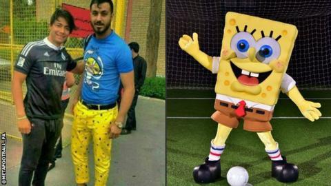 Sünger Bob pantolonu giyen futbolcuya 6 ay men cezası