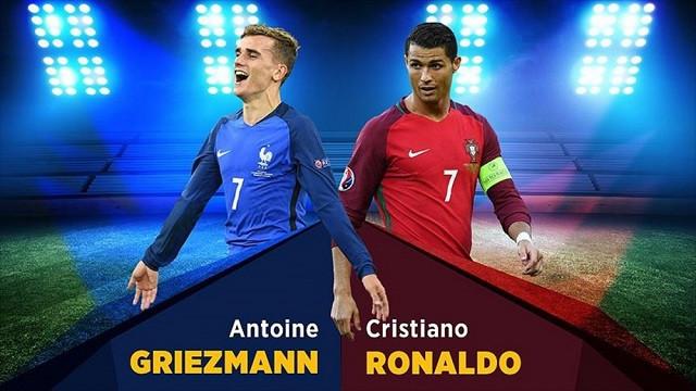 Ronaldo ile Griezmann EURO 2016 finalinde de karşı karşıya gelecek!