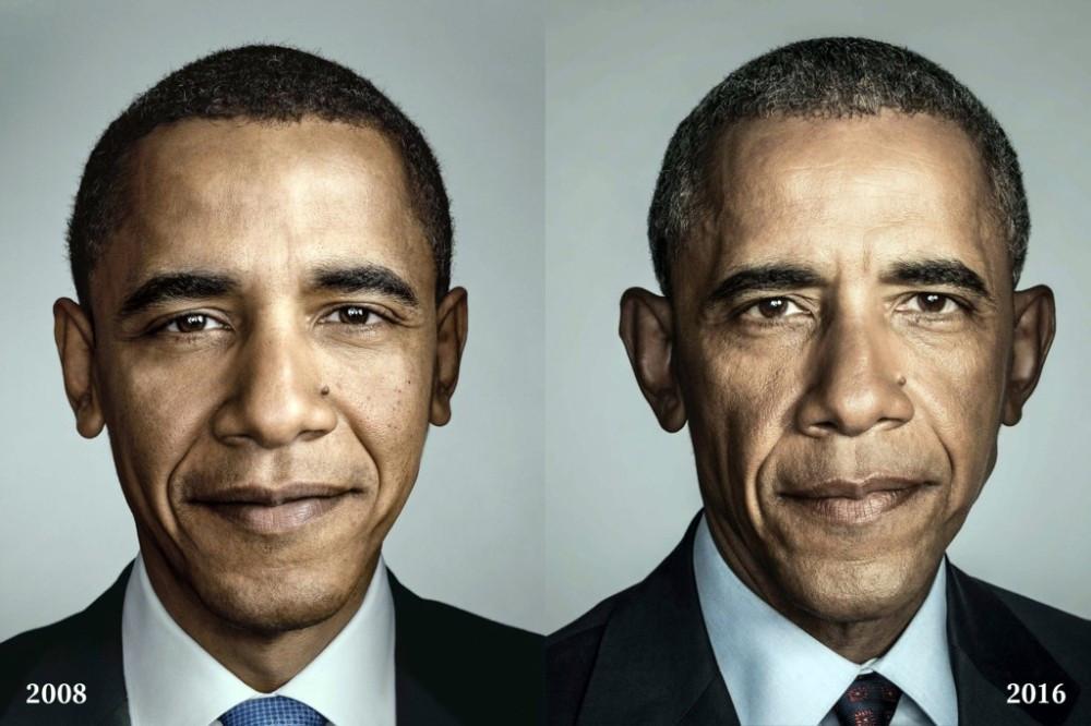 Barack Obama'nın yaşadığı değişim yüzüne yansıdı