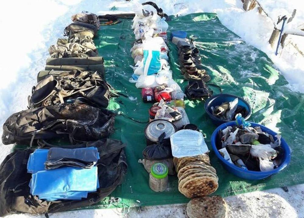 Giresun'da PKK'lı teröristlerin eşyaları ele geçirildi