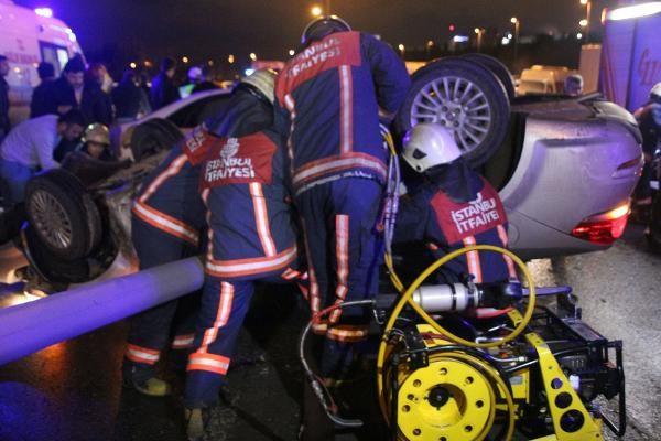 Son dakika haberler: Sefaköy'de feci kaza, takla atan arabanın altında kaldı: 1 ölü