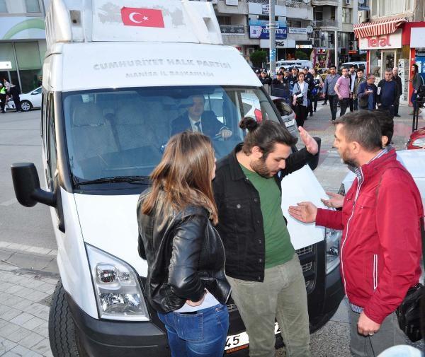 CHP'liler YSK'yı protesto için toplandı, kendi aralarında kavga ettiler