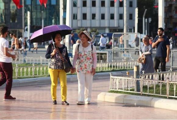 Sıcak hava İstanbul'u kavurdu