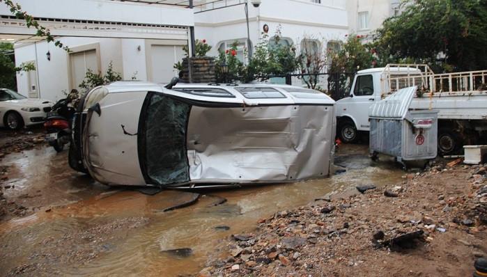 Bodrum'u vuran sel hayatı felç etti