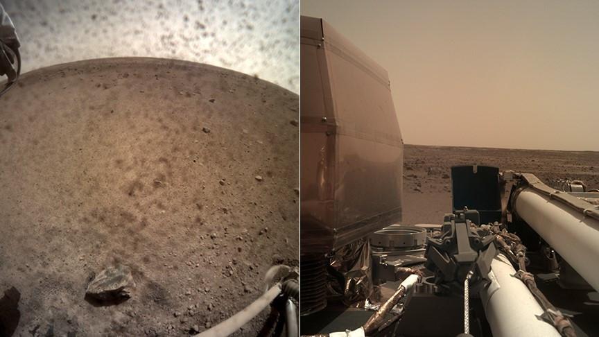 Nasa'nın Mars'a yolladığı InSight Elysium Düzlüğü'nün videosunu gönderdi