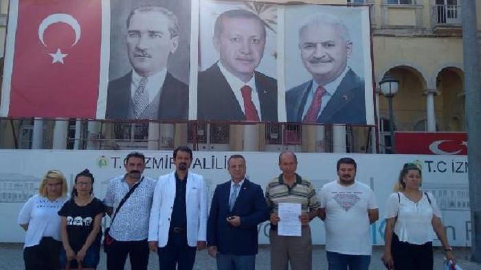 CHP İl Seçim Kurulu kararına uyulup Erdoğan resminin kaldırılmasını istiyor