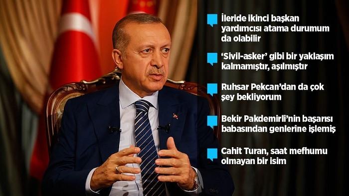 Erdoğan kabinesini değerlendirdi: AB için Genelkurmay MSB'ye bağlanmalı