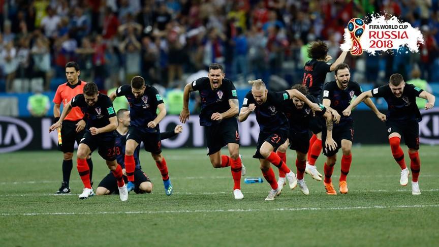 Hırvatistan son penaltıyı attı, Danimarka'yı eledi