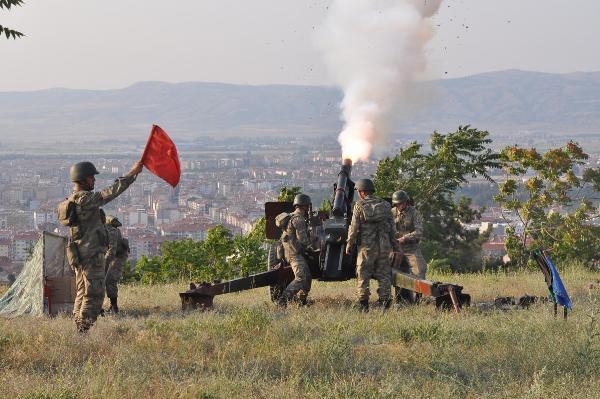 Cumhurbaşkanı Erdoğan için 101 pare top atışı
