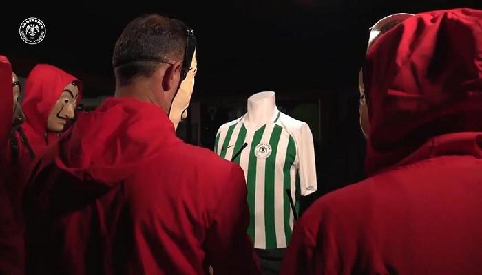 Atiker Konyaspor'dan Çav Bella ve La Casa de Papelli forma tanıtımı