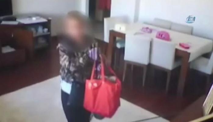 Lüks evleri soyan kadın hırsız önce kameraya sonra polis ekiplerine yakalandı