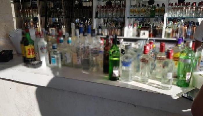 Bodrum'un lüks eğlence mekanına kaçak içki operasyonu