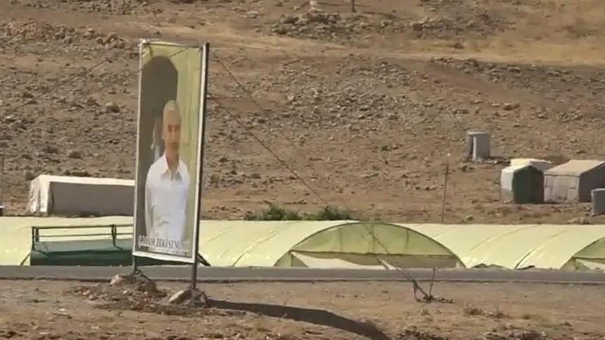PKK'ya bağlı YBŞ'li teröristler Sincar'da kameralara yakalandı
