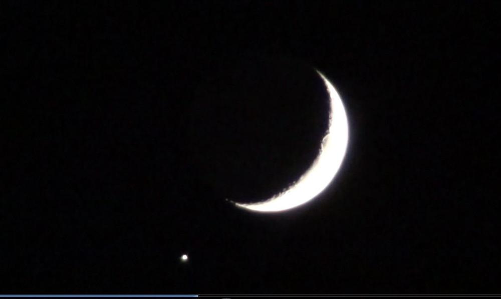 Suriye sınırımızda Ay ve yıldızın muhteşem görüntüsü