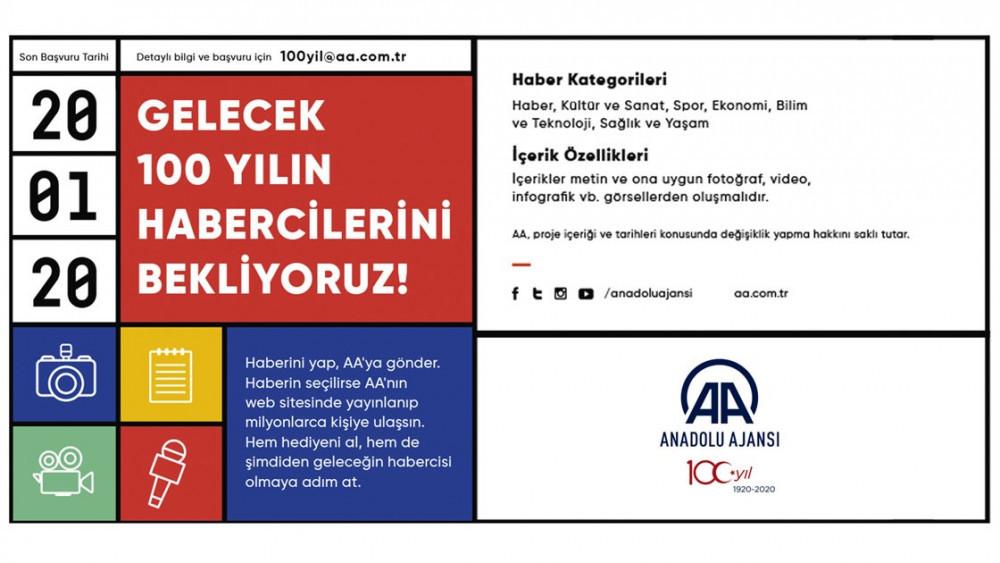 Anadolu Ajansı'ndan gençler için, Gelecek 100 Yılın Habercileri projesi
