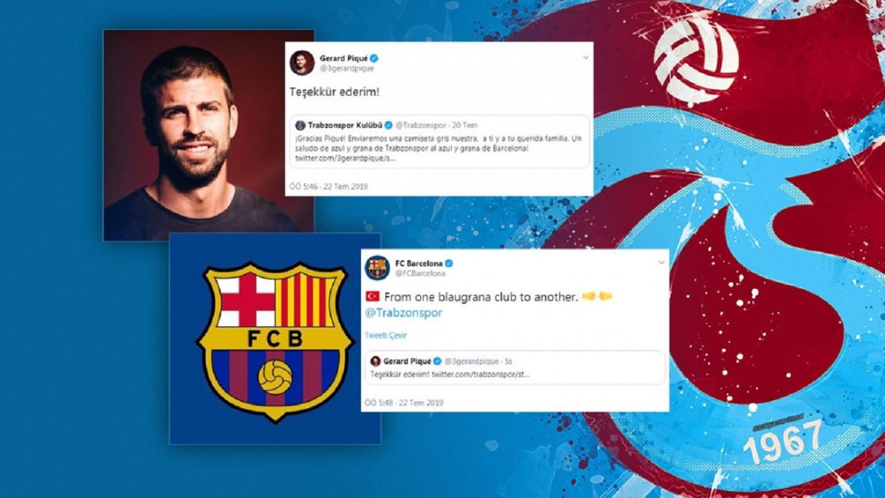 Barcelona ve Pique'den Trabzonspor'a teşekkür